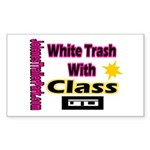 JTP Logo White Trash With Cla Sticker (Rectangular