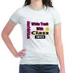JTP Logo White Trash With Cla Jr. Ringer T-shirt
