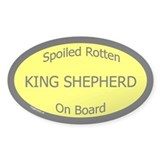 Spoiled King Shepherd On Board Oval Decal
