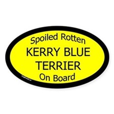 Spoiled Kerry Blue Terrier On Board Oval Decal