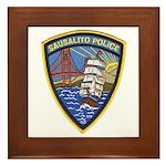 Sausalito Police Framed Tile