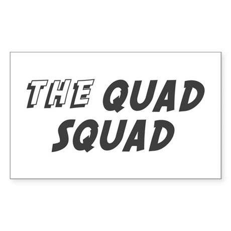 THE QUAD SQUAD Rectangle Sticker