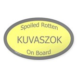 Spoiled Kuvaszok On Board Oval Decal