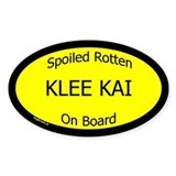 Spoiled Klee Kai On Board Oval Decal