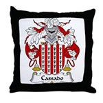 Cassado Family Crest Throw Pillow