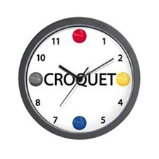 Croquet Wall Clock