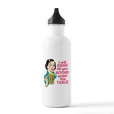 Funny Beer Drinking Hu Water Bottle