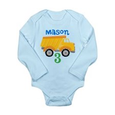 Dump Truck Long Sleeve Infant Bodysuit