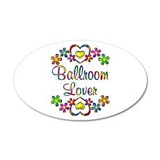 Ballroom Lover 20x12 Oval Wall Decal
