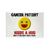 Cancer Patient Hugs Rectangle Magnet