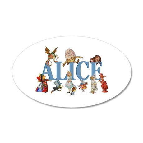 Alice in Wonderland and Frie 20x12 Oval Wall Decal