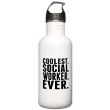 Coolest. Social Worker. Ever. Water Bottle