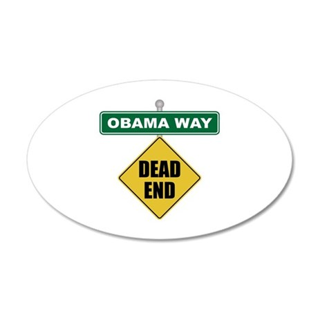 Dead End Obama 20x12 Oval Wall Decal