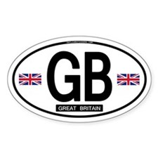GB Oval Sticker (Proper)