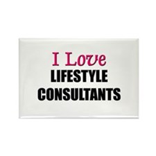 I Love LIFESTYLE CONSULTANTS Rectangle Magnet