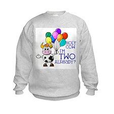 Holy Cow, I'm TWO already? (Blue) Sweatshirt