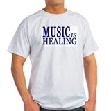 MUSIC is HEALING Ash Grey T-Shirt