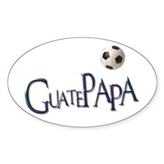 GuatePapa Oval Sticker