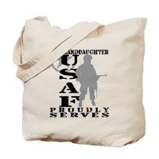 Granddaughter Proudly Serves - USAF Tote Bag