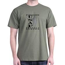 Granddaughter Proudly Serves - USAF T-Shirt