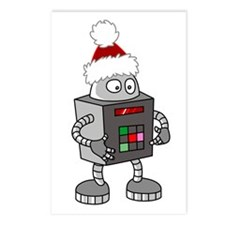 Christmas Robot Postcards (Package of 8)