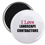"I Love LANDSCAPE CONTRACTORS 2.25"" Magnet (10 pack"