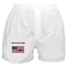 Extreme Skier American Flag Boxer Shorts
