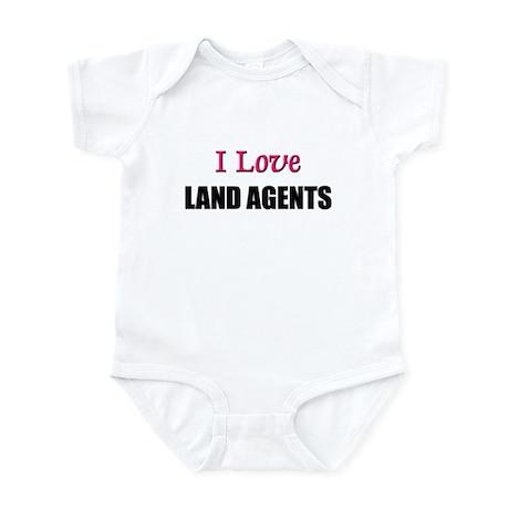 I Love LAND AGENTS Infant Bodysuit