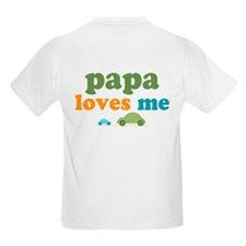 I Love Papa Loves Me Cars T-Shirt