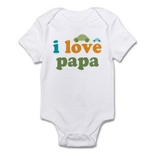 I Love Papa Cars Infant Bodysuit