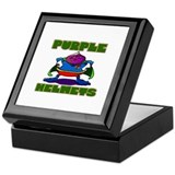 Purple Helmets Keepsake Box