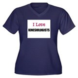 I Love KINESIOLOGISTS Women's Plus Size V-Neck Dar