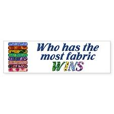 Most Fabric Bright Bumper Car Sticker