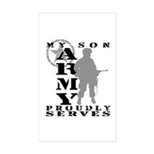 Son Proudly Serves - ARMY Rectangle Decal