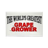 """The World's Greatest Grape Grower"" Rectangle Magn"
