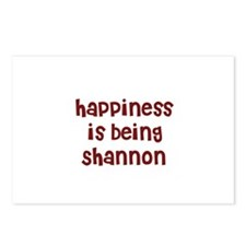 happiness is being Shannon Postcards (Package of 8
