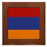 """Armenia Flag"" Framed Tile"