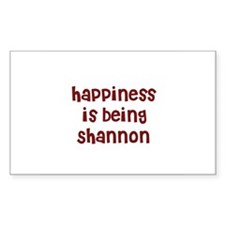 happiness is being Shannon Rectangle Decal