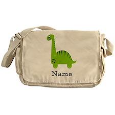 Green Dinosaur (p) Messenger Bag