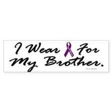 I Wear Purple For My Brother 2 (CF) Bumper Sticker