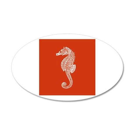 Red Seahorse Wall Sticker