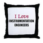 I Love INSTRUMENTATION ENGINEERS Throw Pillow