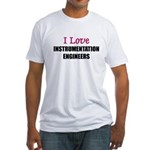 I Love INSTRUMENTATION ENGINEERS Fitted T-Shirt