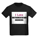 I Love INSTRUMENTATION ENGINEERS Kids Dark T-Shirt