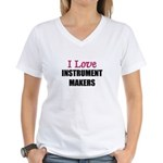 I Love INSTRUMENT MAKERS Women's V-Neck T-Shirt