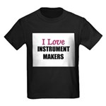 I Love INSTRUMENT MAKERS Kids Dark T-Shirt