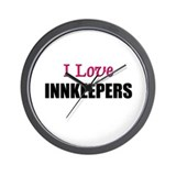 I Love INNKEEPERS Wall Clock
