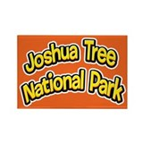 Joshua Tree National Park (Cartoon) Rectangle Magn