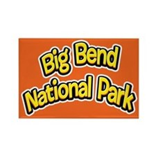 Big Bend National Park (Cartoon) Rectangle Magnet