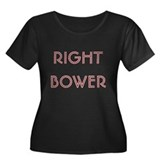 Euchre Right Bower Women's Plus Size Scoop Neck Da
